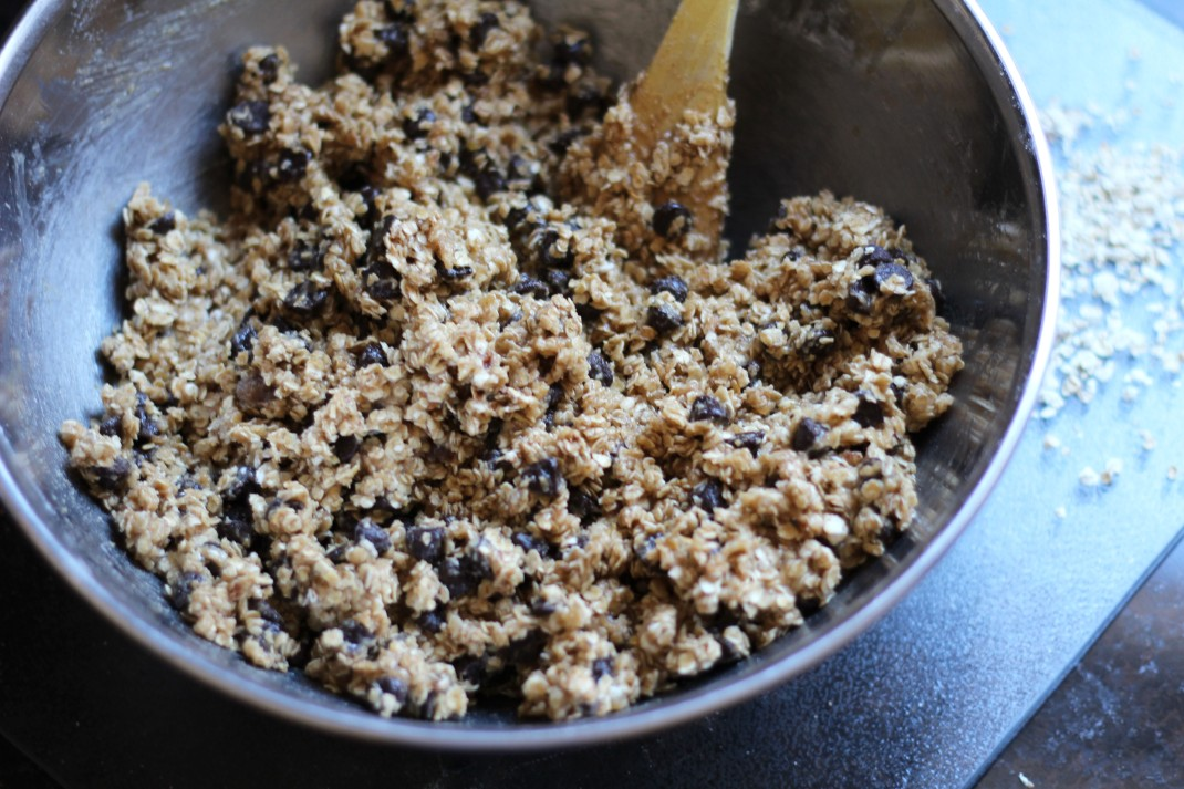 oatmeal chocolate chip cookie batter
